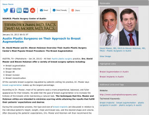 breast augmentation, breast implants, austin plastic surgeons, plastic surgery in austin